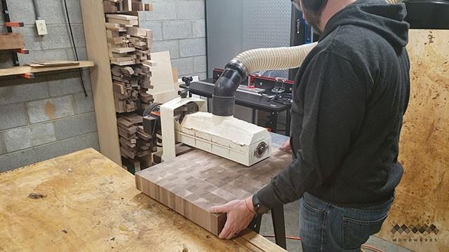 flattening with a drum sander
