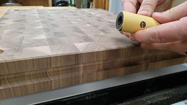 sanding finder grooves