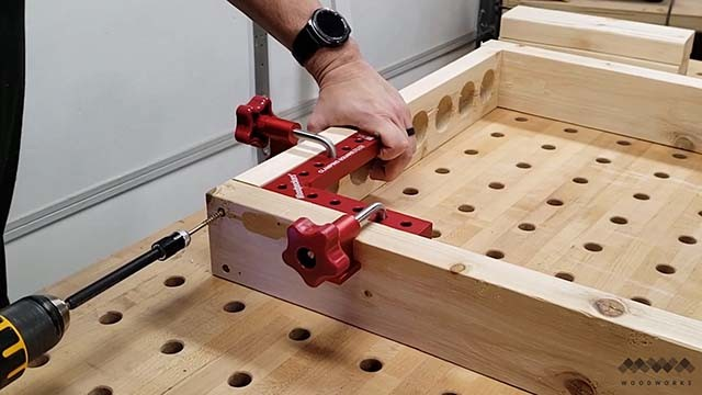 assembling the clamp rack