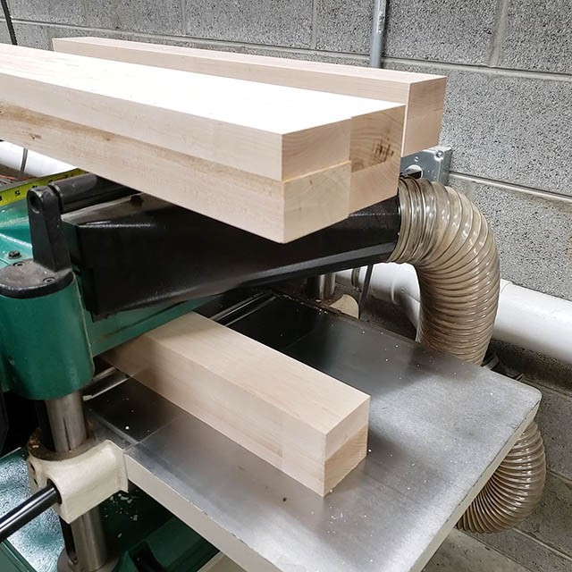making the legs for the lathe stand