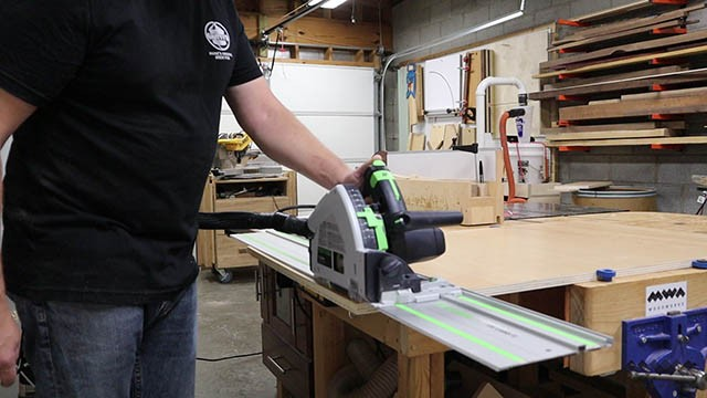 cutting tool wall with track saw