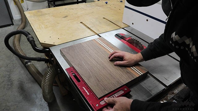 checking cutting board for square