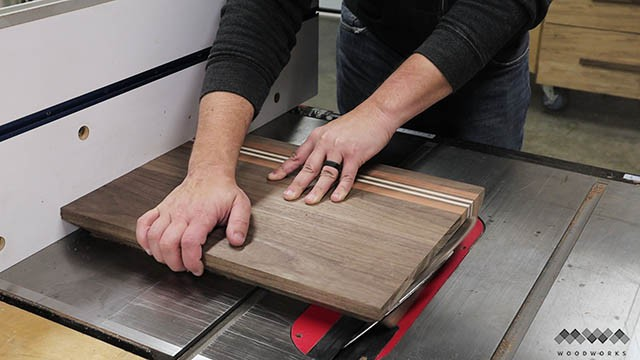 cutting bevels in cutting board