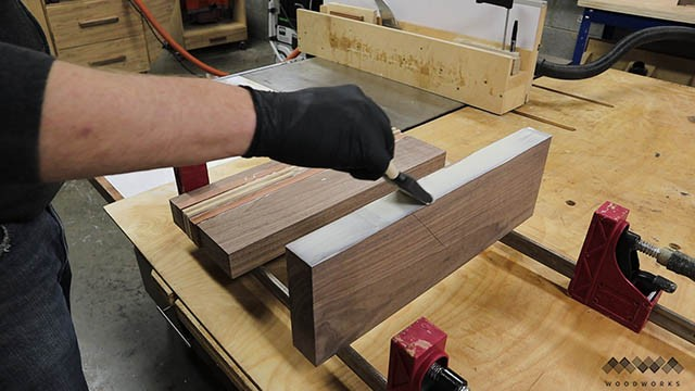 cutting board glue up