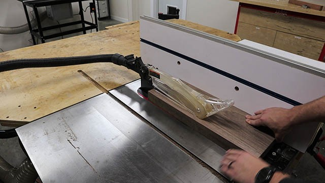 ripping at the table saw