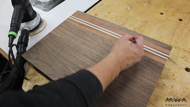 sanding cutting boards