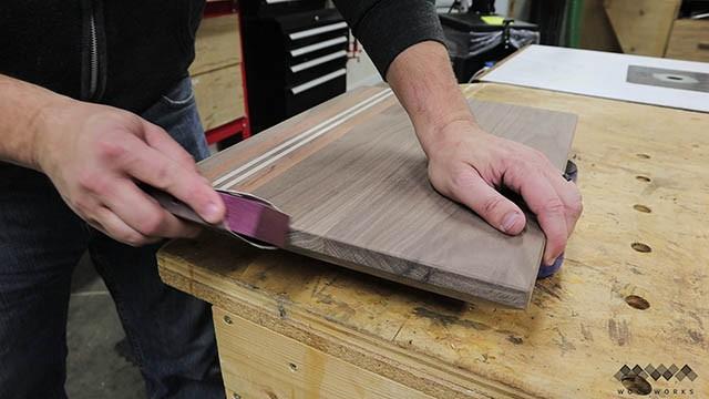 softening edges of cutting board