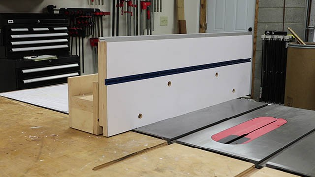 table saw auxilliary fence 1