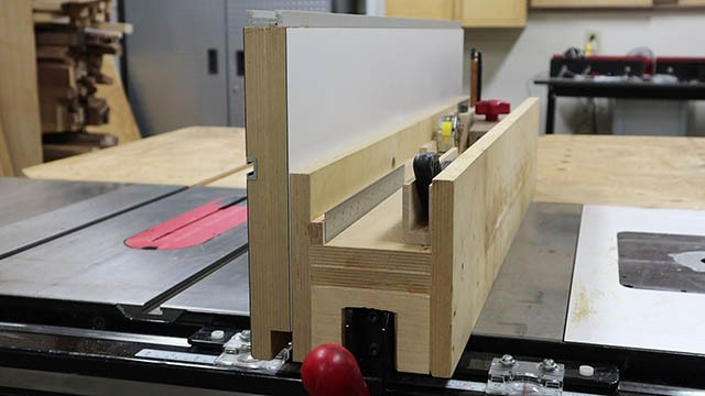 table saw auxilliary fence 2